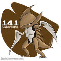 141: Kabutops by Speedvore