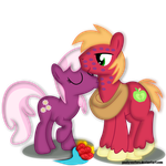 Big Mac And Cheerliee (PC) by PaulyVectors