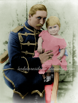 Wilhelm II with baby, Recolor by lordelpresidente