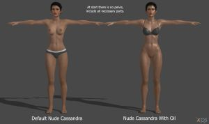 DAI: Cassandra Nude Model by g1pno