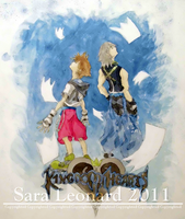 Kingdom Hearts Painting by Kari-Morano