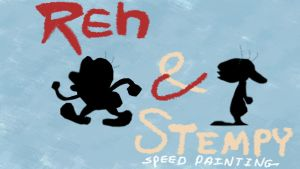 thumb nail/title card ren and stempy by IDROIDMONKEY