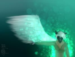 I grew wings, cause its mar birthday. by Nuvoe