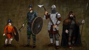 Fantasy Norse Characters by A-Pancake