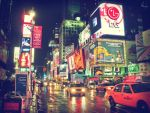 Times Square at night by Anemyah