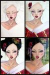 Geisha in Red - Progression by attitudechick