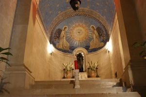 church at Capernaum-israel by picture-melanie