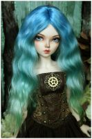 Sea wave color wig by Kimirra-bjd