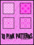 10 pink patterns by Sweet83