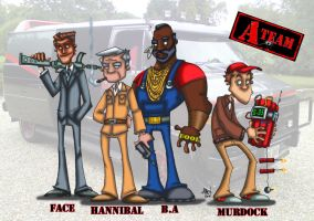 Ty's A-Team Coloured by bonejesta
