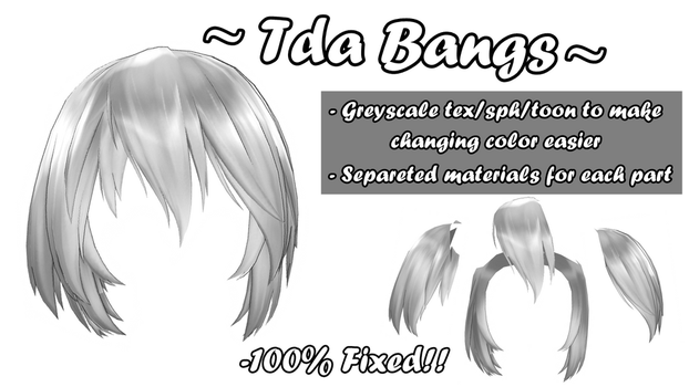 [MMD] Tda Default Bangs (+DL!) by 10JmixP
