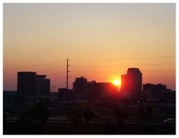 Red Giant Engulfs The City by tearusapart
