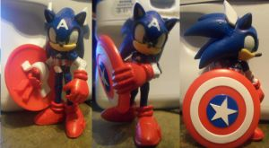 Sonic As Captain America by AndrewStrappers