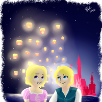 tangled- ame/can by parumayo