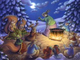 Around the Campfire by Red-Clover