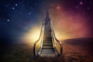 Escalator to heaven by kevron2001