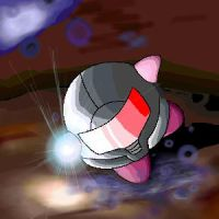 Phazon Samus Kirby by aquamizuko