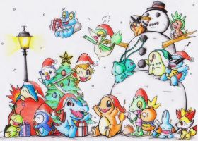 Pokemon Starter Christmas! by GTS257-CT