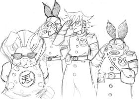 Shiro the Rabbit Mobster doodle by Mailus