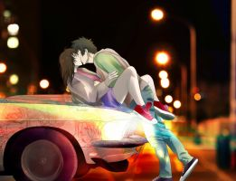 Psycho-pass: Kogami x Akane: Unexpected by Lesya7