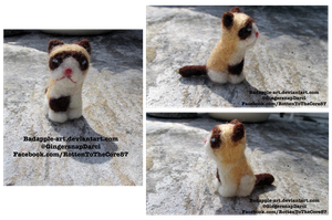 Grumpy Cat Needle-Felt by BadApple-Art