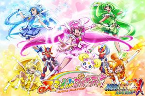 Smile Precure and Megaman ZX Advent by isaacyeap