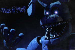 FNAF 4 - Unwithered Nightmare Bonnie by GamesProduction