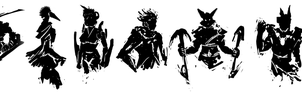 Silhouette Sketches - Character Concepts by ChaserTech