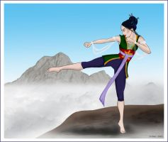 Suyin, the Earthbender-commish by Lulu-Lomaki