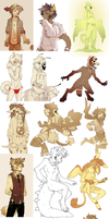 a shit ton of furries by HJeojeo