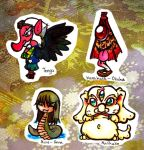 Japanese mythical creatures chibi's 3 by Inya-spring