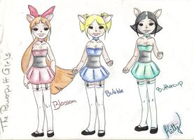 the powerpuff girl kitty-color by Paya-Art