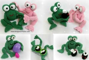 Froggy, His Girlfriend and Flies by sojala