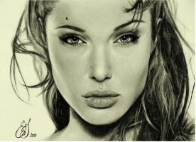 Angelina Jolie by emiliestabell
