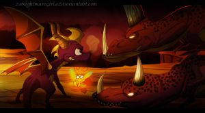 Spyro and the lava lizards by ZzNightmareGirlzZ