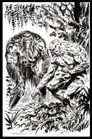 Swamp-Thing Man-Thing by BillReinhold