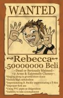 Rebecca Wanted Poster by WimpleToad
