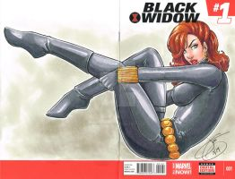 Black Widow Sketch Cover by JenBroomall