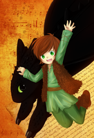 Hiccup and Toothless 2 by Ritzueli