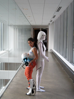 [Portal 2] GLaDOS and Chell by for-the-wicked