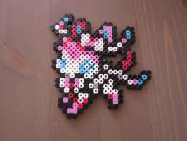 Sylveon - Fuse beads by Deadly-Grape