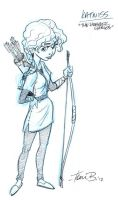 Katniss from Hunger Games by tombancroft