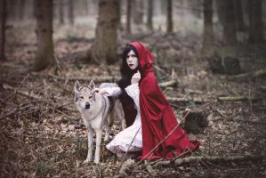 Red riding hood and the wolf II by Cleo-Feline