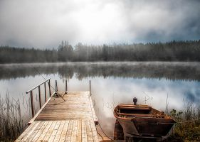 Dock by Regnsjon by RobinHedberg