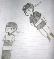 Romulus and Vulcan- Kids by Inamkur