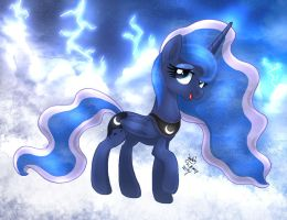 MLP FIM - Princess Luna Thunder Clouds by Joakaha