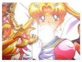 Sailor V's Crescent Necklace by Silly-Thing
