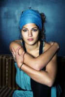 The woman in blue by ChristineAmat