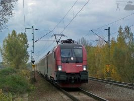 Railjet bw Gyor and Abda by morpheus880223
