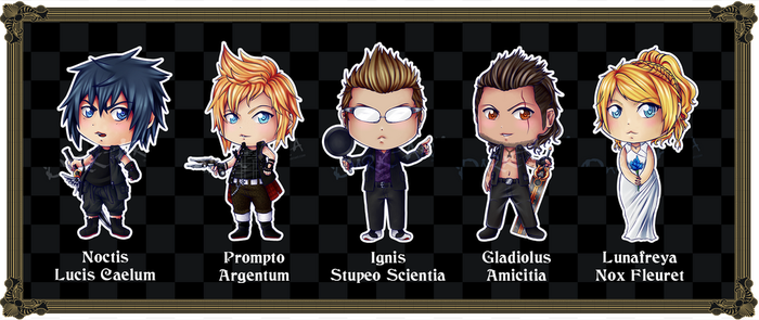 FFXV Chibis by Dark-Arya